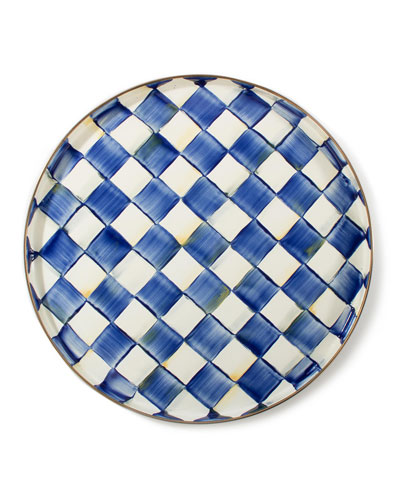 Royal Check Round Tray