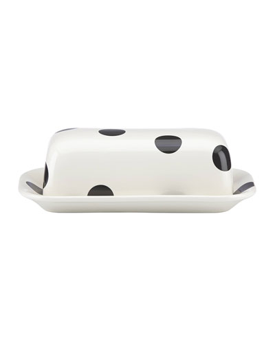 deco dot   covered butter dish