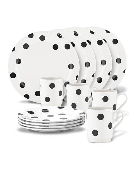 deco dot   12-piece dinnerware set