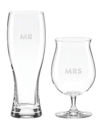 darling point mr & mrs beer glasses