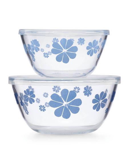 nolita blue serve and store bowls, set of two