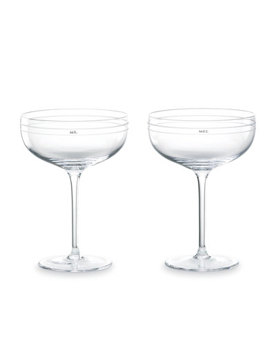 darling point mr. & mrs. coupe glasses