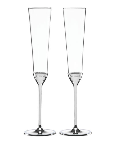 take the cake to have & to hold champagne toasting flute set