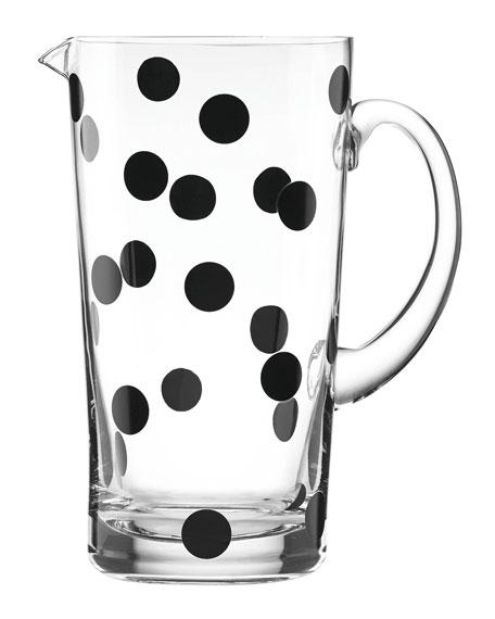 glass deco dot pitcher
