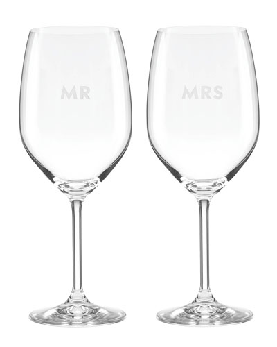darling point mr. & mrs. stemmed red wine glass