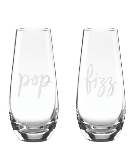two of a kind pop & fizz champagne flutes