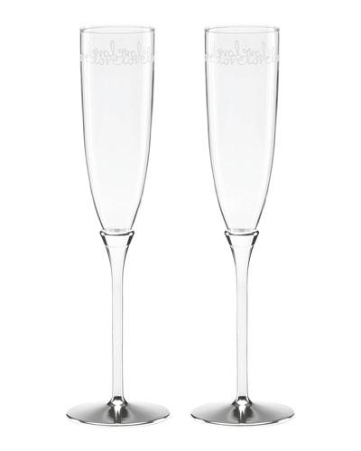 key court love love toasting   champagne flutes set