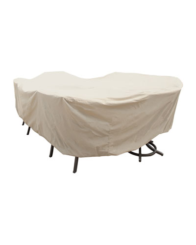 Large Oval/Rectangle Table & Chairs Cover with Ties