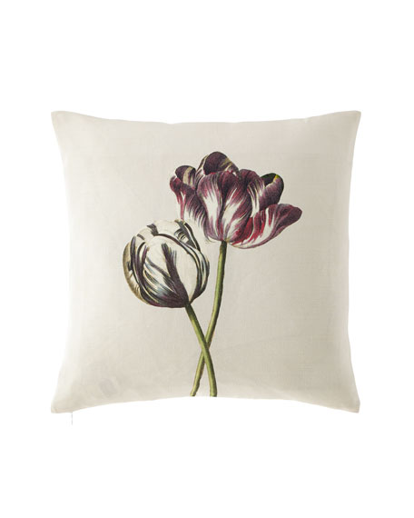 Variegated Tulips Buttermilk Pillow