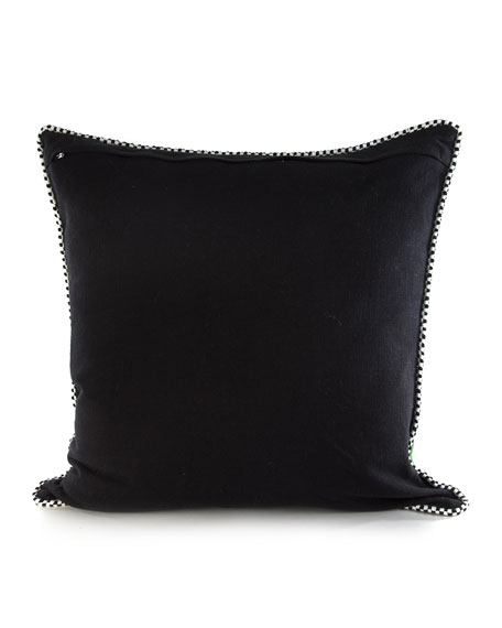 Beaded Parrot Pillow