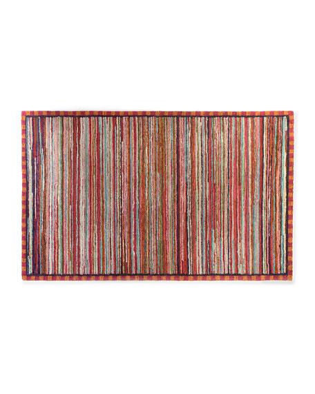 Super Pink Stripe Rug, 5' x 8'