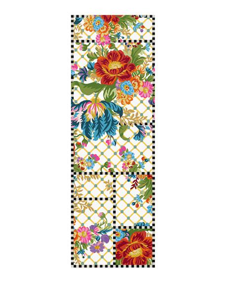 MacKenzie-Childs Flower Market Trellis Runner, 2.8' x 8'