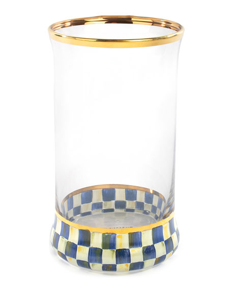 MacKenzie-Childs Royal Check Highball Glass