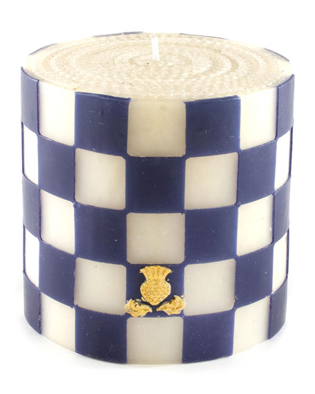 """Checker 5"""" Pillar Candle"""