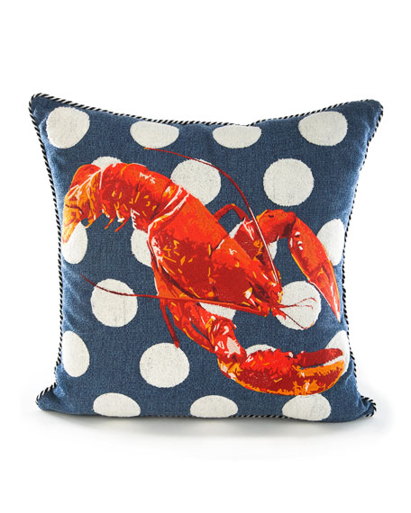 MacKenzie-Childs Lobster Outdoor Accent Pillow