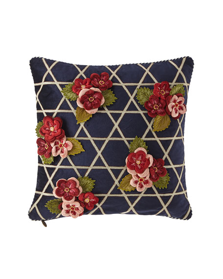 MacKenzie-Childs Bluetopia Kitano Pillow