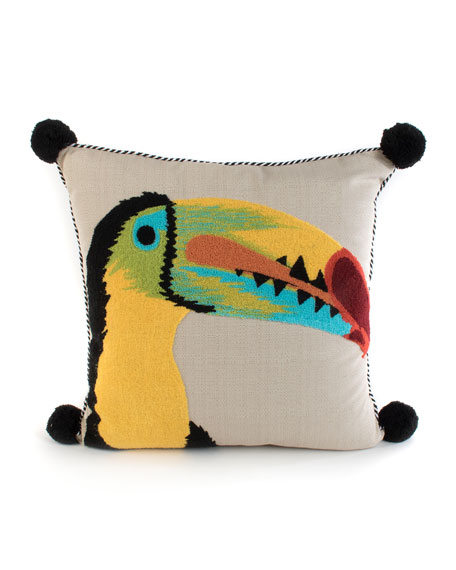 Toucan Outdoor Accent Pillow