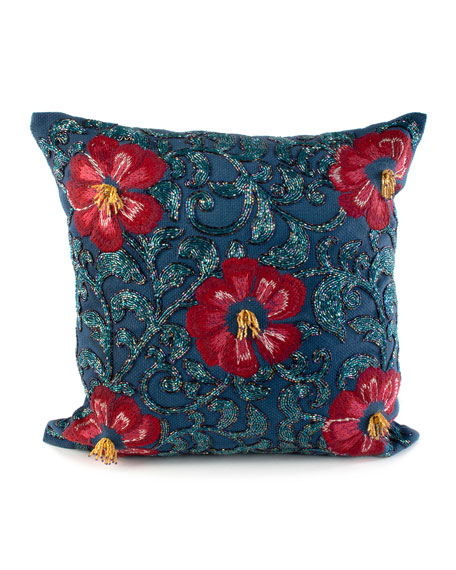 MacKenzie-Childs Bluetopia Shimmer Pillow