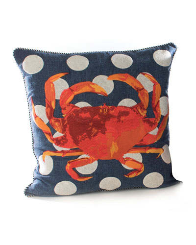 Crab Outdoor Accent Pillow