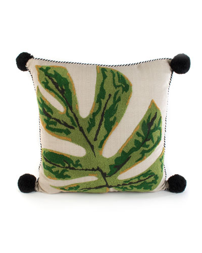 Zanzibar Leaf Outdoor Accent Pillow