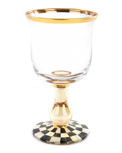 Courtly Check Water Glass