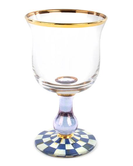 MacKenzie-Childs Royal Check Water Glass