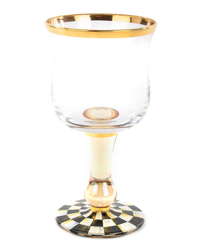 Courtly Check Wine Glass