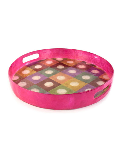 Unorthodot Round Serving Tray
