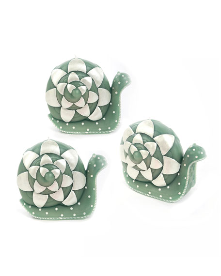 MacKenzie-Childs Snail Candles, Set of 3