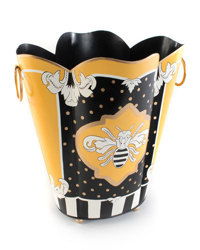 Queen Bee Wastebasket