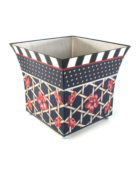 MacKenzie-Childs Bluetopia Wastebasket
