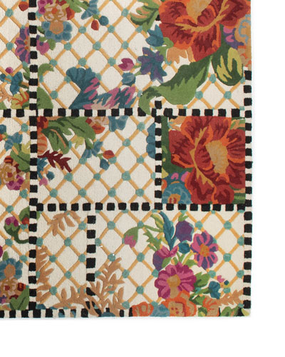 Flower Market Trellis Rug  5' x 8'