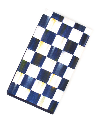 Royal Check Paper Guest Napkins  20 Pack
