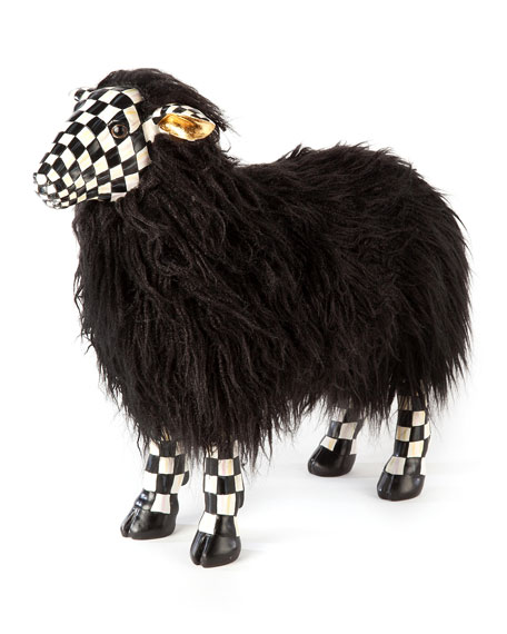MacKenzie-Childs Courtly Check Small Black Sheep
