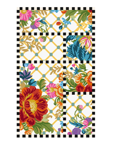 Flower Market Trellis Rug  2.25' x 3.75'
