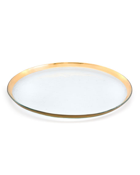 Annieglass Roman Antique Round Party Platter