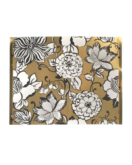 MacKenzie-Childs Avant-Garden Gold Large Wallpaper