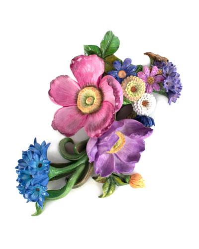 Flower Market Blue Wall Art