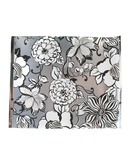 Avant-Garden Silver Large Wallpaper