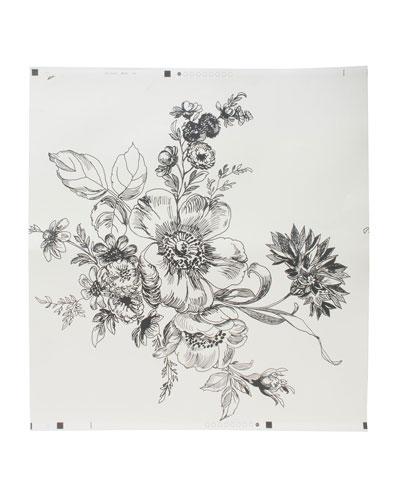 Wild Rose Ivory Wallpaper