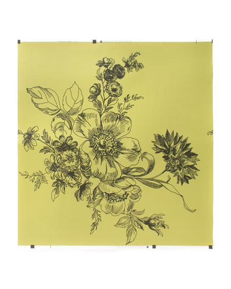 Wild Rose Chartreuse Wallpaper