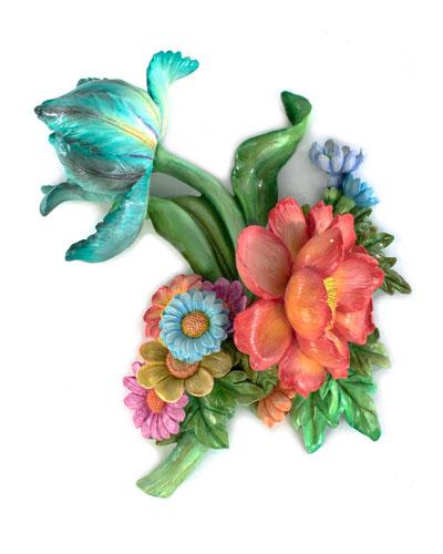 Flower Market Aqua Wall Art