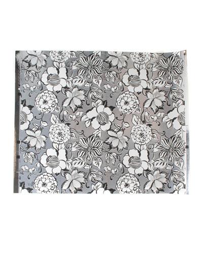Avant-Garden Silver Small Wallpaper