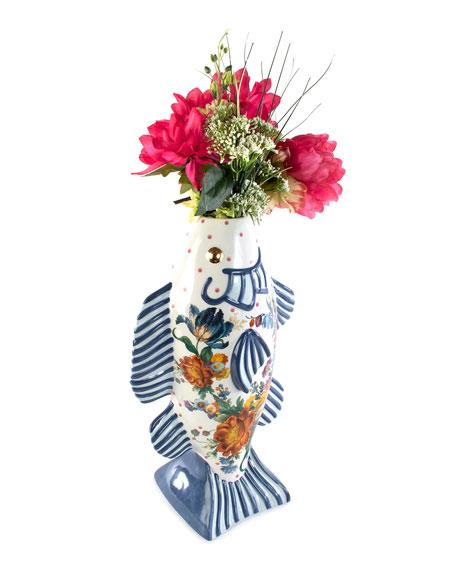Flower Market Tall Fish Vase