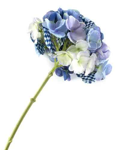 Royal Check Hydrangea Stem - Blue