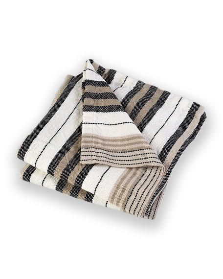 Katahdin Multi-Stripe Throw Blanket