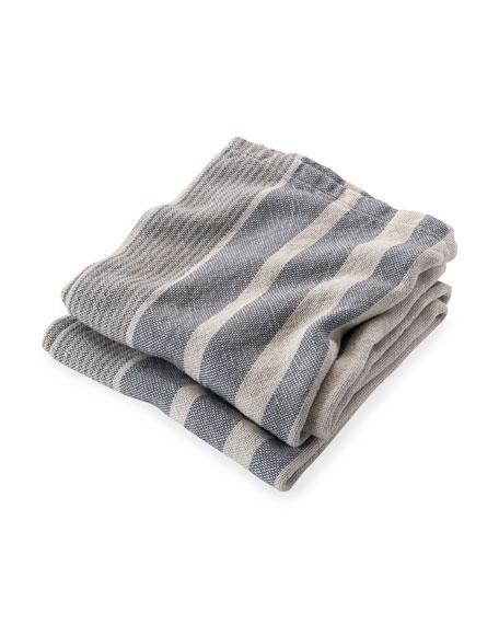 Hampton Multi-Stripe Throw Blanket