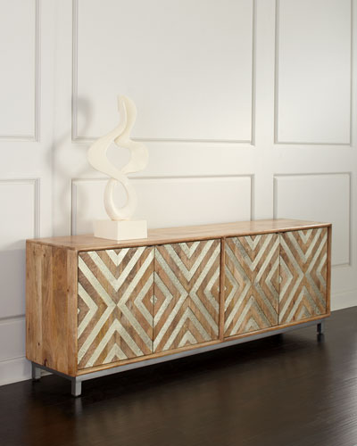 Chevron Four-Door Entertainment Console