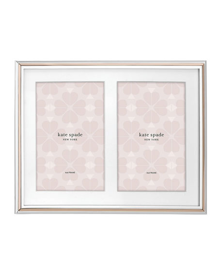 "rosy glow 5"" x 7"" double invitation picture frame"