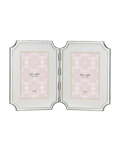 sullivan street double picture frame  silver